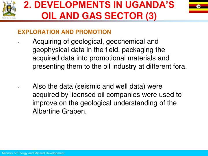 2. DEVELOPMENTS IN UGANDA'S OIL AND GAS SECTOR (3)