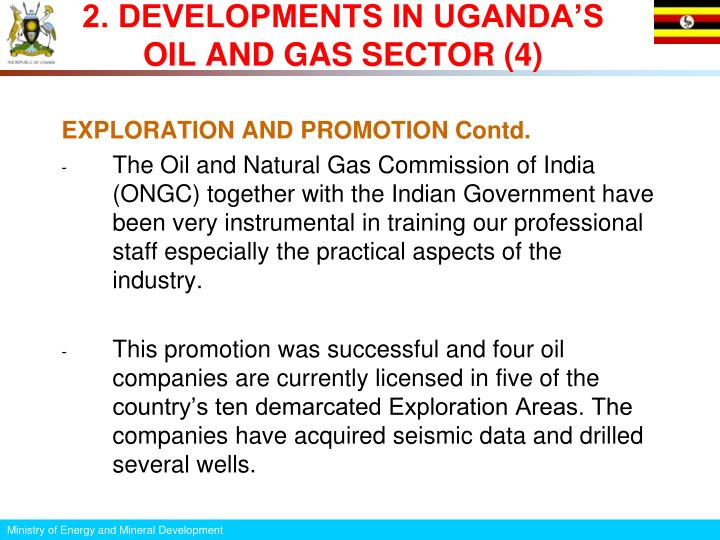 2. DEVELOPMENTS IN UGANDA'S OIL AND GAS SECTOR (4)