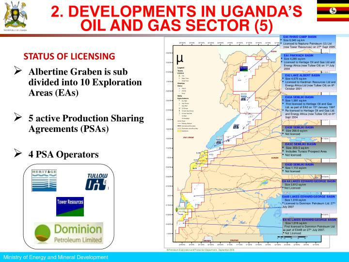 2. DEVELOPMENTS IN UGANDA'S OIL AND GAS SECTOR (5)