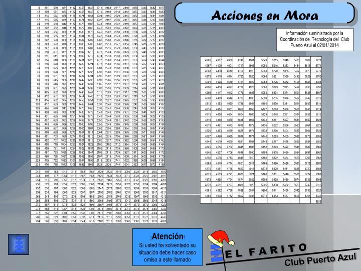 Acciones en Mora