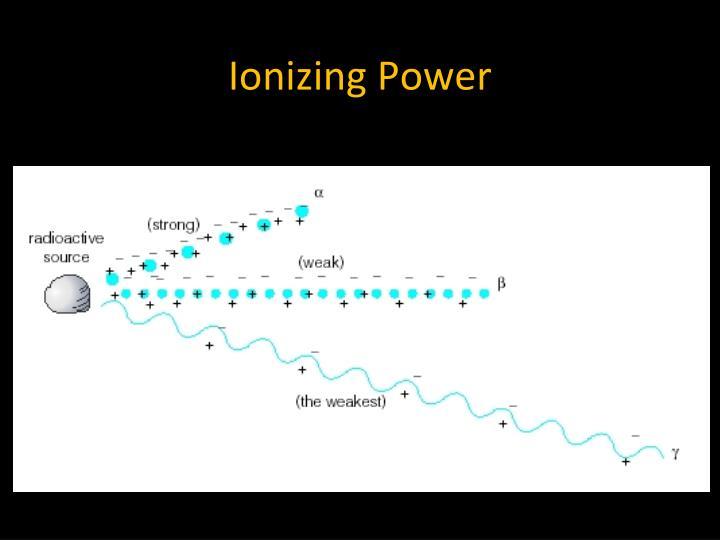 Ionizing Power