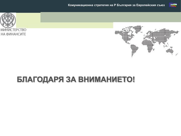 Комуникационна стратегия на Р България за Европейския съюз