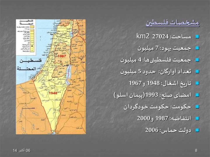 مشخصات فلسطین