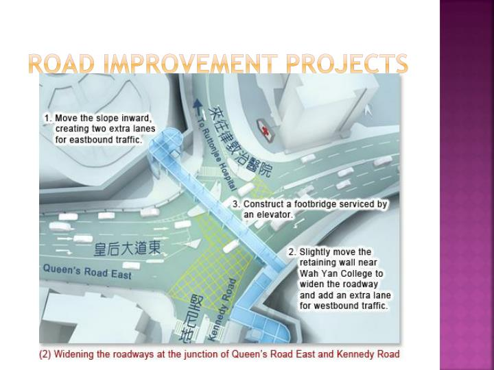 Road improvement projects