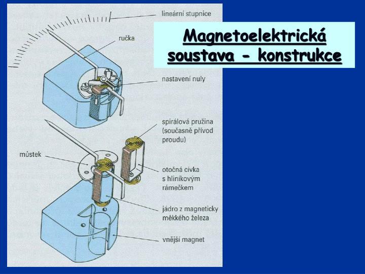 Magnetoelektrická soustava - konstrukce