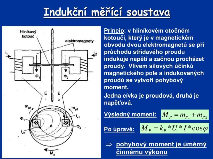 Indukční měřící soustava