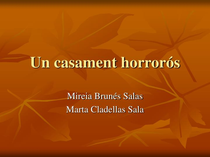Un casament horrorós