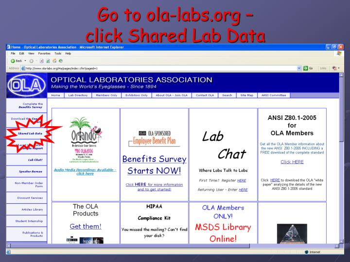 Go to ola-labs.org –