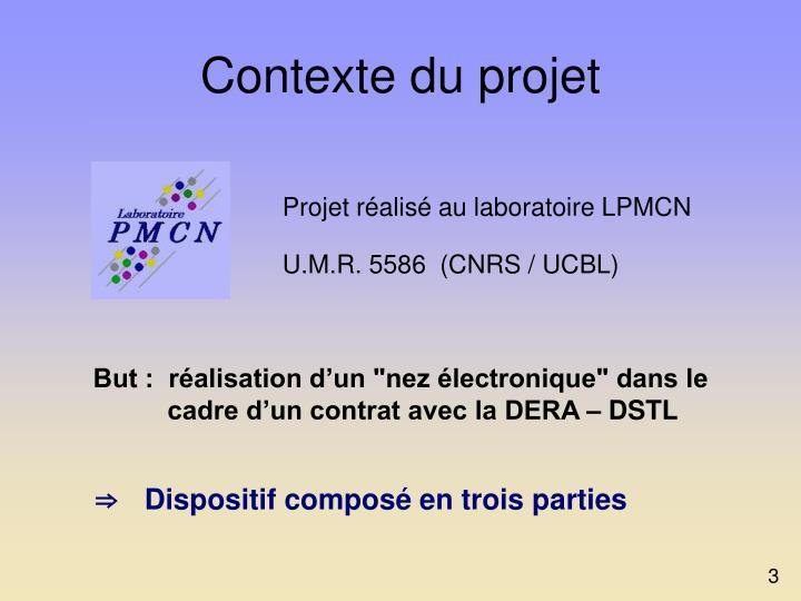 Contexte du projet