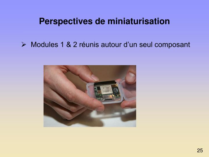 Perspectives de miniaturisation