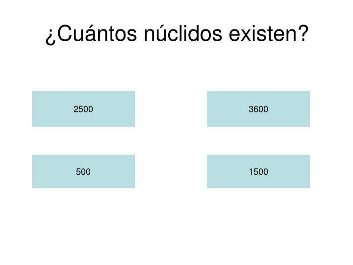 ¿Cuántos núclidos existen?