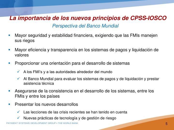 La importancia de los nuevos principios de CPSS-IOSCO