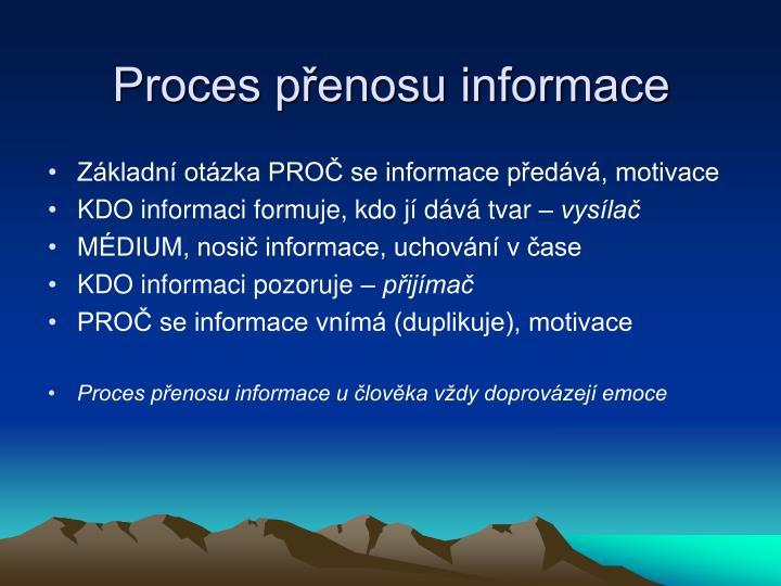 Proces přenosu informace