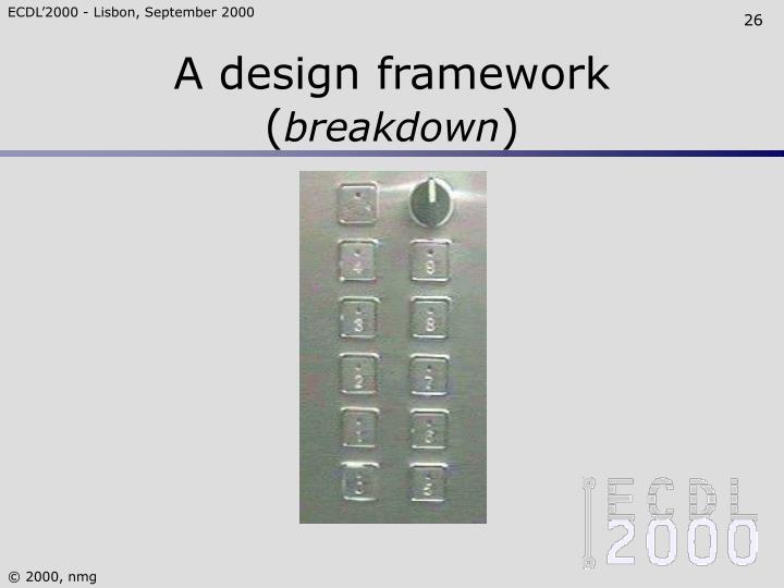 A design framework (