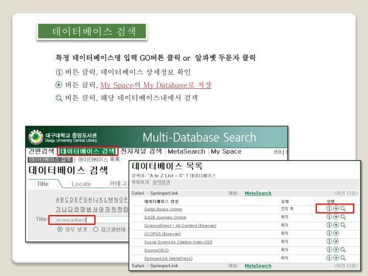 데이터베이스 검색