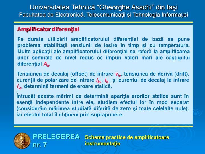 """Universitatea Tehnică """"Gheorghe Asachi"""" din Iaşi"""