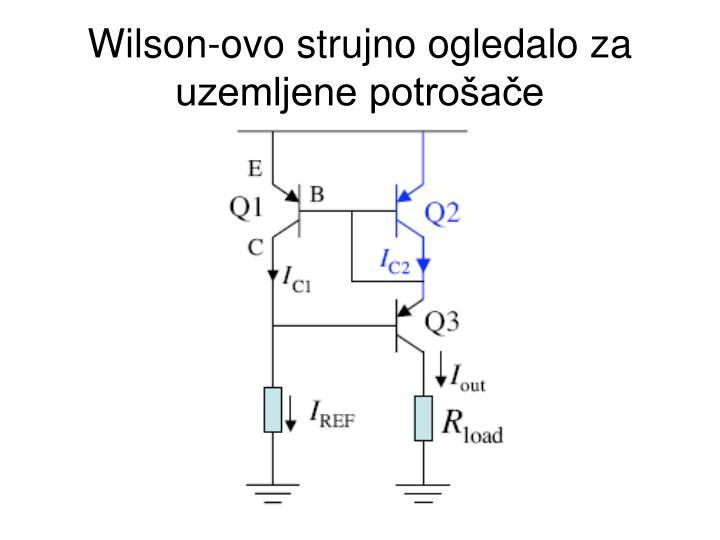 Wilson-ovo strujno ogledalo za uzemljene potrošače