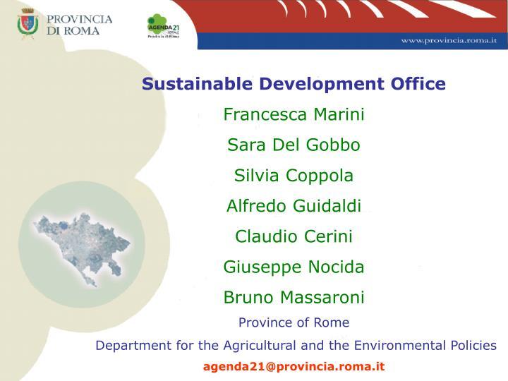 Sustainable Development Office