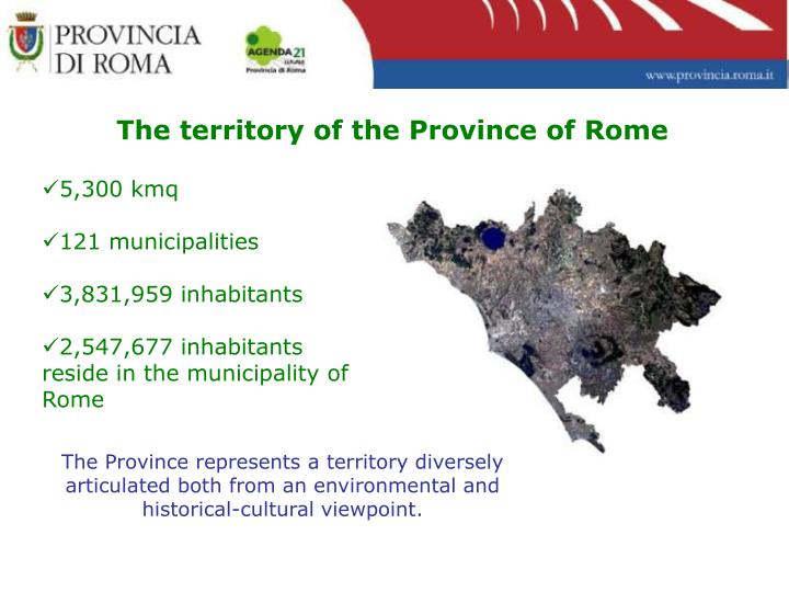 The territory of the Province of Rome
