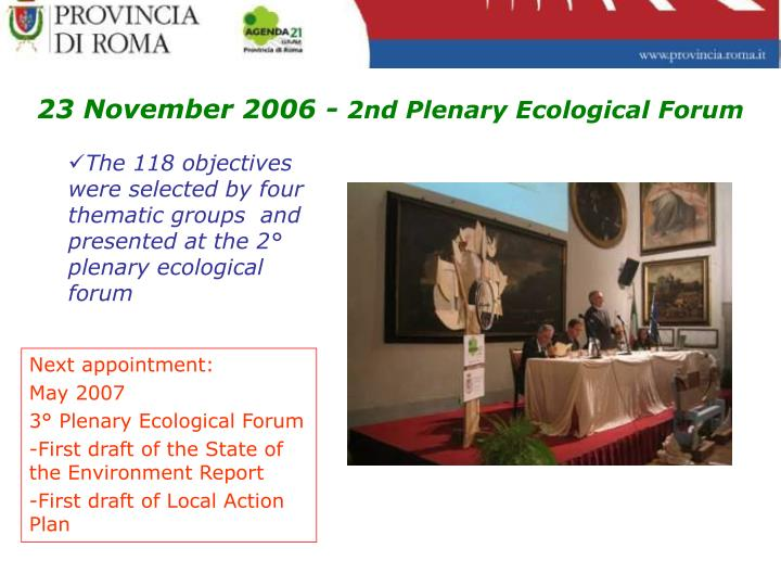 23 November 2006 -