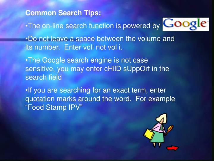 Common Search Tips: