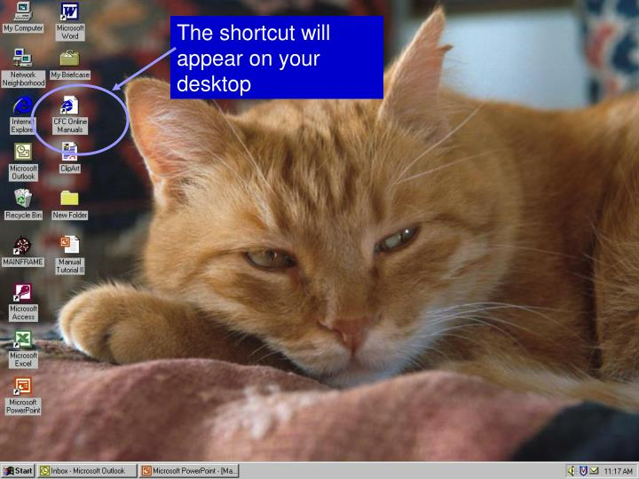 The shortcut will appear on your desktop