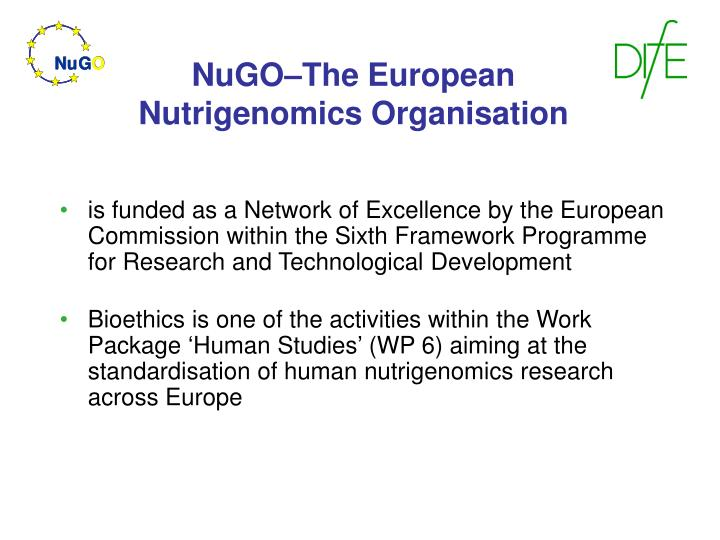 Nugo the european nutrigenomics organisation