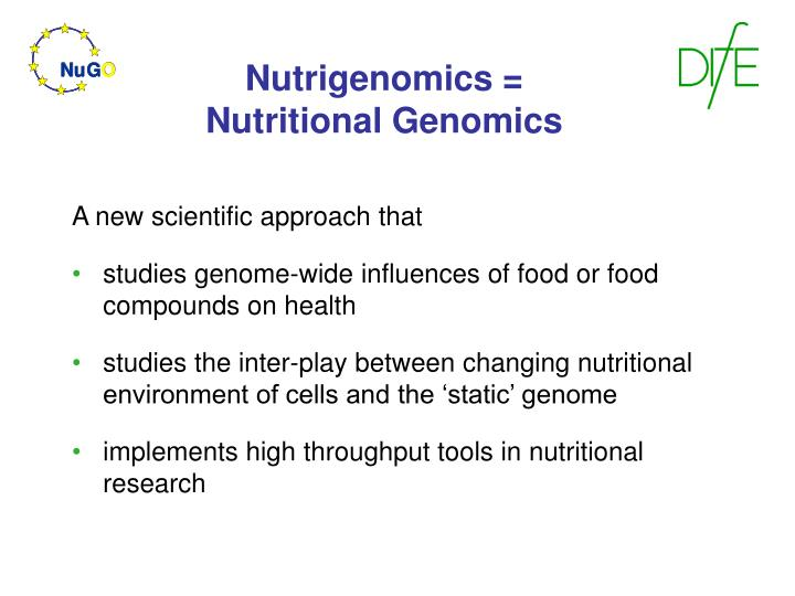 Nutrigenomics nutritional genomics