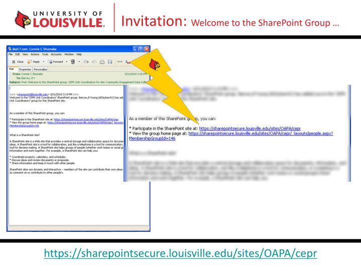 Invitation: