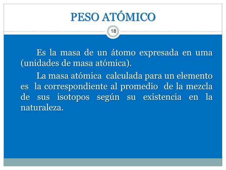 PESO ATÓMICO
