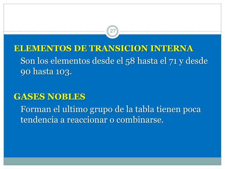ELEMENTOS DE TRANSICION INTERNA