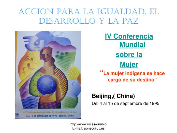 ACCION PARA LA IGUALDAD, EL DESARROLLO Y LA pAZ