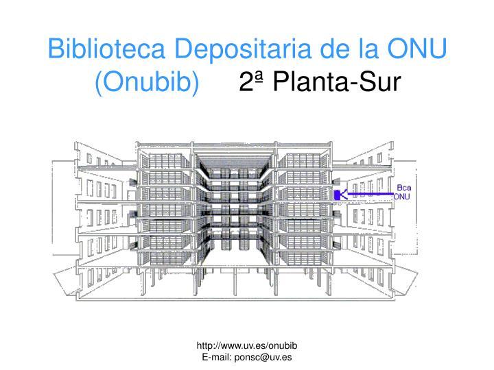 Biblioteca Depositaria de la ONU (Onubib)