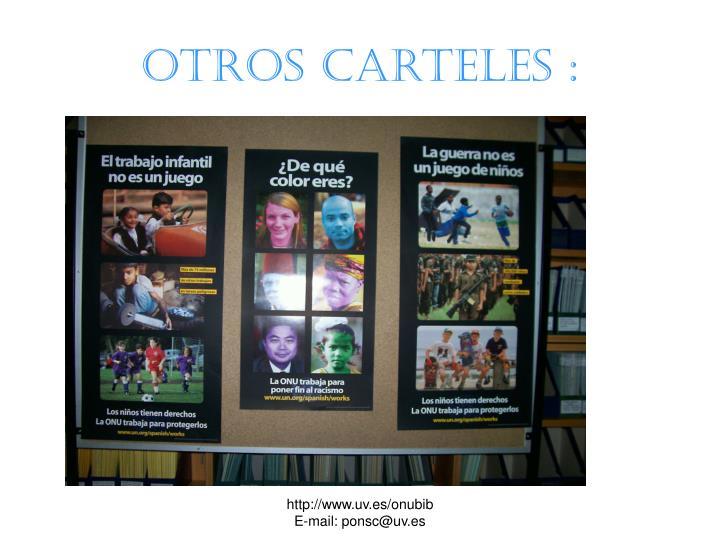 OTROS carteles :