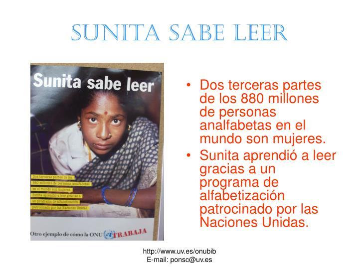 Sunita sabe leer
