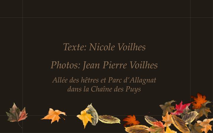 Texte: Nicole Voilhes