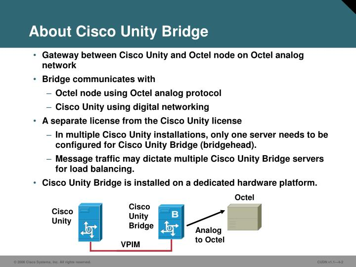 About cisco unity bridge