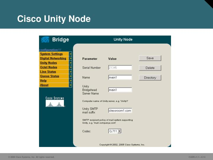 Cisco Unity Node