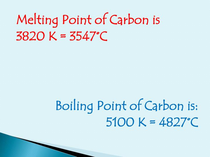 Melting Point of Carbon is