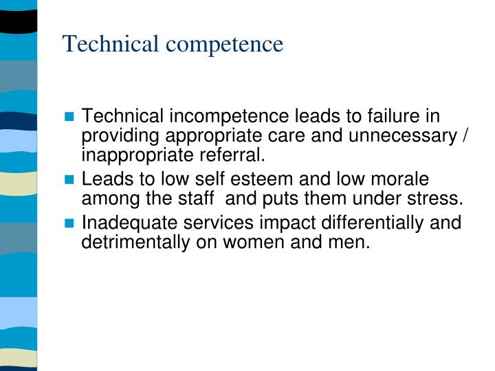 Technical competence