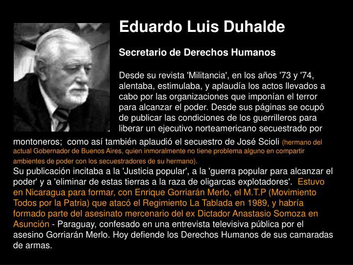 Eduardo Luis Duhalde
