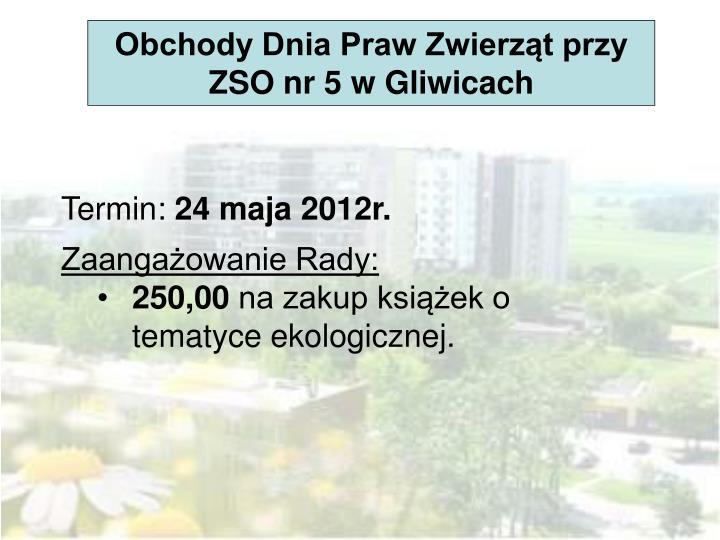 Obchody Dnia Praw Zwierząt przy ZSO nr 5 w Gliwicach