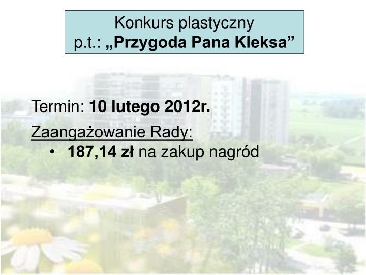 Konkurs plastyczny p.t.: