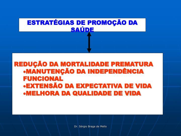 ESTRATÉGIAS DE PROMOÇÃO DA SAÚDE