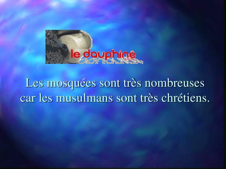 Les mosquées sont très nombreuses car les musulmans sont très chrétiens.