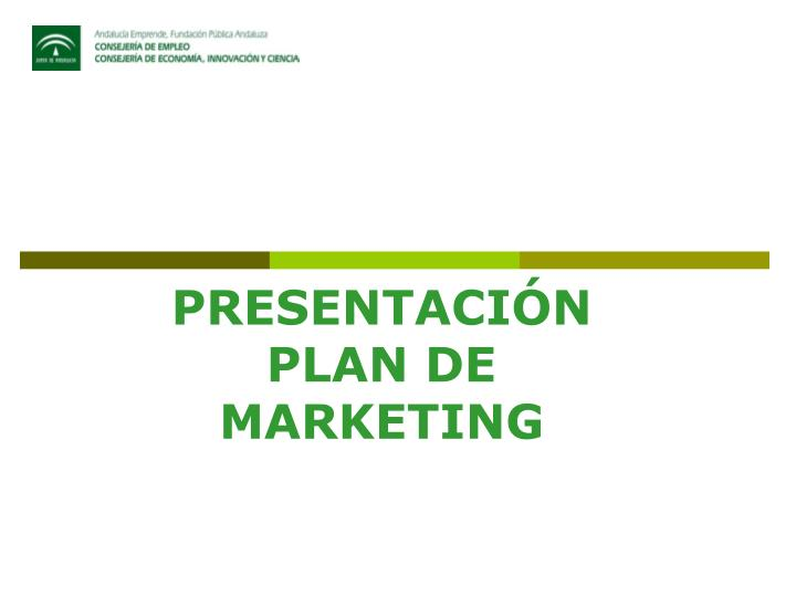 Presentaci n plan de marketing