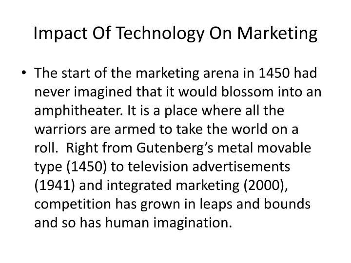 Impact Of Technology On Marketing