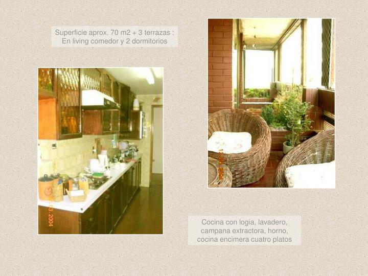 Superficie aprox. 70 m2 + 3 terrazas :