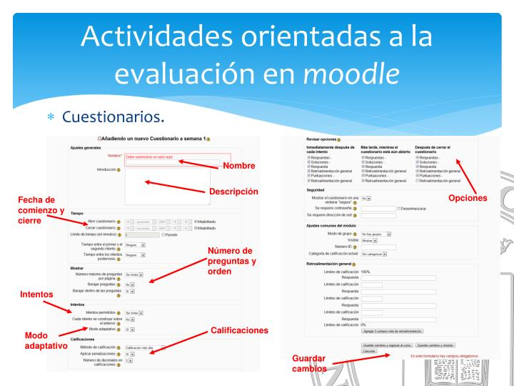 Actividades orientadas a la evaluación en