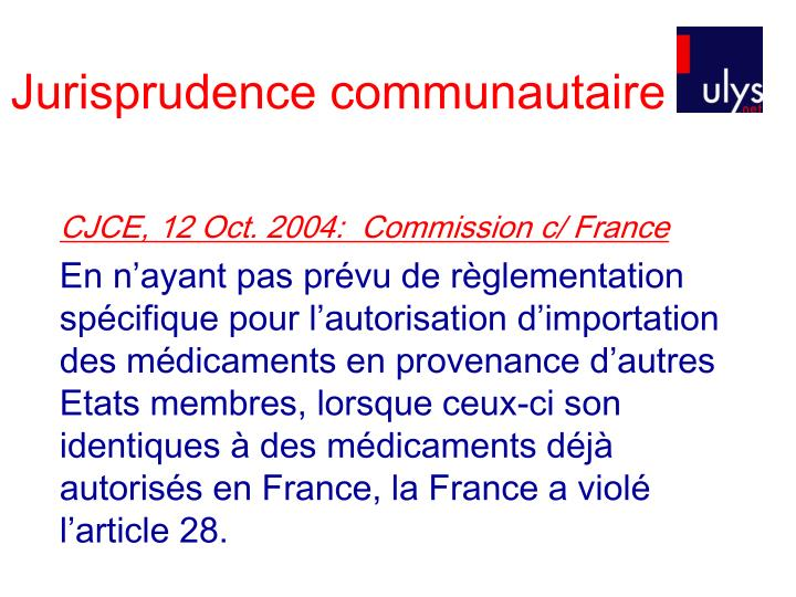 CJCE, 12 Oct. 2004:  Commission c/ France